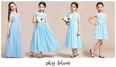 Wedding Dresses – Summer sky blue junior bridesmaid dress – a unique product by jenzhou on DaWanda