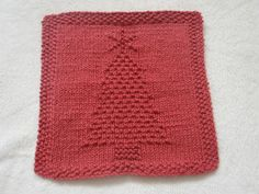 Knitted Christmas Tree Dishcloth