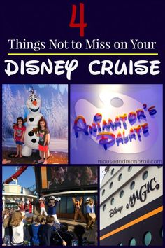 4 Things Not to Miss on Your Disney Cruise