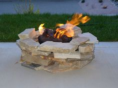 Bricks are another great idea for surrounding your Campfire In A Can portable propane campfire! They come in so many shapes, colors and styles.. the possibilities and choices are endless!