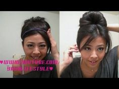 2 Minute Regal Updo - Audrey Hepburn look Bun Hairstyles, Pretty Hairstyles, Updo Hairstyle, Fan Bun, Tips Belleza, Great Hair, Hair Dos, Gorgeous Hair, Hair Hacks