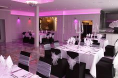 From it's spacious, modern design, to it's astonishing art deco furnishings, the Concorde Suite is a truly dreamy setting for Weddings. The lighting which is installed around the space can be colour customised, and our events team can often source and stock the bar with your favourite drink. The Concorde Suite Package is £2,500 for 40 day and 60 evening guests, inclusive of a drinks package: http://www.theearl.co.uk/weddings/concorde-suite.html.