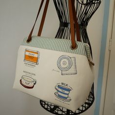 artchala handmade: Sweet Coffee Shop Frame Bag bag is for sale not pattern. Frame is sewn in - very nice look and size.