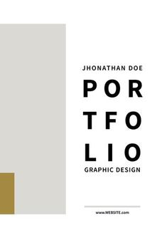 """Cover of """"Graphic Design Portfolio Template"""" Source by carlitelli Related posts: No related posts. Portfolio Cover Design, Portfolio Covers, Portfolio Examples, Portfolio Logo, Portfolio Layout, Graphisches Design, Logo Design Trends, Graphic Design Branding, Page Design"""