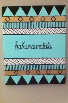 Hakuna Matata canvas DIY