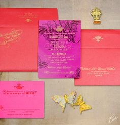 Love the pink and orange for this Bat Mitzvah invite