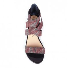 elastic flat sandal