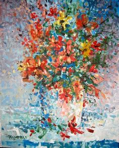 "Saatchi Online Artist Micheal Jones; Painting, ""Wildflowers"" #art"