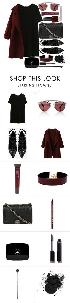 """Helter Skelter"" by brynhawbaker ❤ liked on Polyvore featuring MANGO, Christian Dior, Valentino, Lane Bryant, Vanessa Mooney, Chanel, NYX and Gucci"