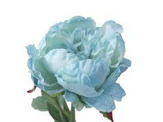 Vara de Peonía, de flor artificial, en talo con hojas verdes de 60 cms de altura y 15 cms de diámetro. Colección Olivia. Disponible en colores malva, azul, blanco y amarillo claro.
