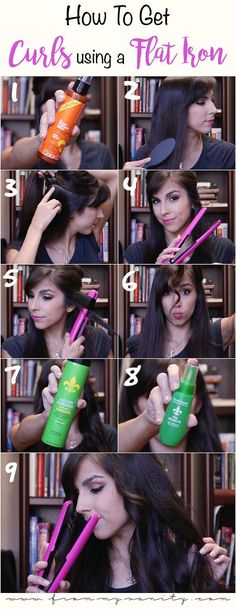 Get quick, loose curls with a ghd flat iron in minutes! East tutorial!