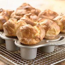 Popovers - easy and delicious.   Tip: serve with honey butter (recipe included).