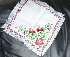 UKRAINIAN EMBROIDERED HAND MADE TABLE/SHELF CLOTH. 10X10
