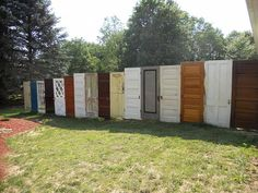 privacy fence made from doors-I think I know someone who has enought of these to do this. ;)