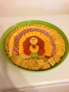 Cheese and cracker turkey!!