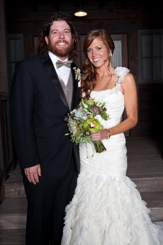 Eli Young Band's James Young married wife Abby in Dripping Springs, Texas in 2012. Check out her gorgeous bouquet! http://www.greatamericancountry.com/living/lifestyles/country-weddings-pictures?soc=pinterest