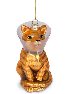What better way to prove your unconditional love for your feline friends than with this hilarious Cone Kitty Glass Christmas Ornament? Get it at PLASTICLAND Cat Christmas Ornaments, Christmas Cats, All Things Christmas, Winter Christmas, Christmas Time, Christmas Decorations, Holiday Decor, Xmas, Cute Little Things