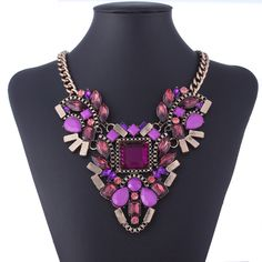 Fashion Necklace Women Statement Necklaces & Pendants Choker Collar Necklace Skyrim Collier Vintage Crystal Jewelry CJ0196-in Choker Necklaces from Jewelry on Aliexpress.com | Alibaba Group