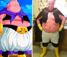 Spitting image of Boo! from Dragonball Z #cosplay #anime