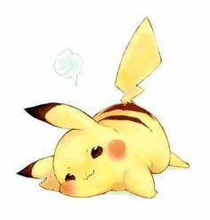 Must be tiring, being so darn cute cute chibi kawaii Pikachu pokemon Pikachu Pikachu, Pikachu Mignon, Pikachu Kunst, Anime Chibi, Pet Anime, Kawaii Chibi, Anime Kawaii, Anime Art, Pokemon Fan Art