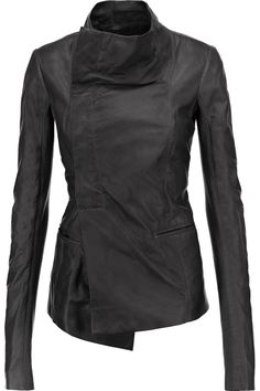 RICK OWENS Eileen Asymmetric Leather Jacket. #rickowens #cloth #jacket
