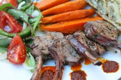 Barbecue recipe: grilled lamb chops.