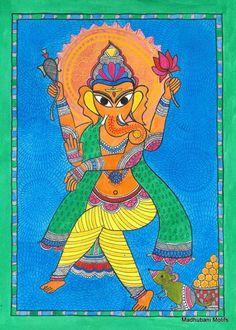 Hindu-Gott Ganesha Drucken/Poster/Malerei-spirituelle Kunst - 6 * 8 Vinayaka Kunstdruck auf Archivierung Papier-Wand hängenden-Startseite Dekor-Housewarming Geschenk