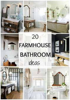 Love farmhouse style from Fixer Upper?! Take a look at these 20 gorgeous Farmhouse bathrooms and see how you can get some Fixer Upper style in your own home.