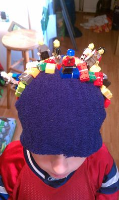Crazy hat day. Just sew some legos on