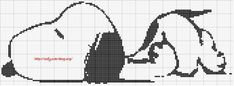 Image - grille snoopy - Le monde du point de croix - Skyrock.com