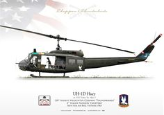 """UNITED STATES ARMY118th Assault Helicopter Co. """"Thunderbirds""""2nd Flight Platoon """"Choppers""""Bien Hoa Air Base, Vietnam. 1965"""