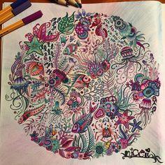 creative hours  #johannabasford #lostocean #phantastischer #Ozean #kreativ #ausmalen #zum #abschalten ❤️