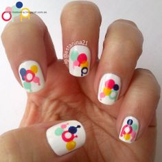 Drip nails - Dotticure ... Uñas que gotean - hechas con puntos