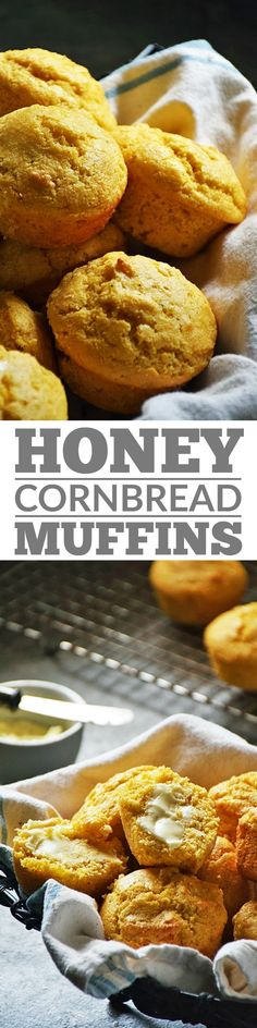 Honey Cornbread Muffins | by Life Tastes Good are a mix of both southern and northern cornbread variations. The texture leans towards a traditional southern cornbread, however, the flavor is slightly sweet adding that northern twist. Perfect side dish to accompany your favorite BBQ recipes or even as a delicious breakfast or snack. #LTGrecipes #SundaySupper