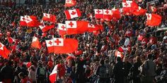 RWC 2011 - Tonga's Ikale Tahi supporters. The only team aside from NZ's All Blacks to have sell-out crowds.