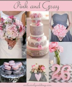 Pink and Gray Wedding | Your Wedding Color - Pair Pink With a Neutral For a Groom-Friendly Palette | Read more: http://blog.exclusivelyweddings.com/2014/08/18/your-wedding-colors-pink-with-a-neutral-combination/