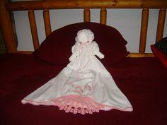 Hand Made Vintage Pillowcase Doll  Crochet Girl Border by zantana, $32.00