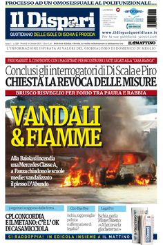 La copertina del 16 ottobre 2015 #ischia #ildispari