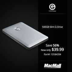 Save 56% on a 500GB #GTechnology slim G-Drive at MacMall.