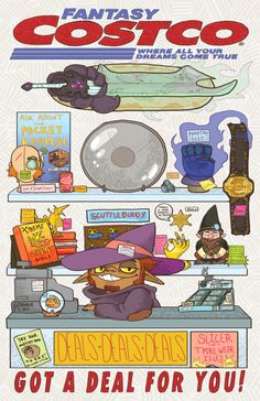 Fantasy Costco: Where all your dreams come true! Adventure Zone Podcast, The Adventure Zone, Fantasy Costco, Mcelroy Brothers, The Zone, My Guy, Dungeons And Dragons, Nerdy, Character Design