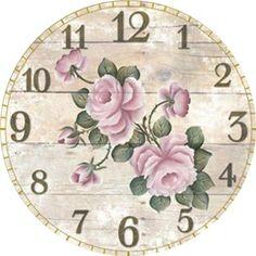 Art Vintage, Decoupage Vintage, Vintage Walls, Vintage Paper, Vintage Images, Decor Vintage, Clock Art, Diy Clock, Clock Face Printable