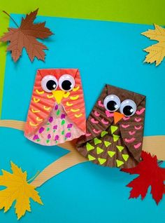 Craft Work For Kids, Halloween Crafts For Toddlers, Thanksgiving Crafts For Kids, Crafts For Seniors, Toddler Crafts, Art For Kids, Crab Crafts, Dinosaur Crafts, Owl Crafts