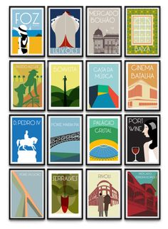 Porto Poster Collection by João F Brandão, via Behance