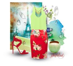 """Mint & Red !!!"" by ghiselad ❤ liked on Polyvore featuring Chloé, Biba, TIBI, Lucky Brand and Giuseppe Zanotti"