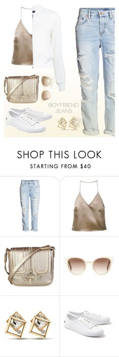 """""""#boyfriendjeans"""" by liligwada ❤ liked on Polyvore featuring H&M, Barbara Casasola, Versace, Fendi, Lacoste and Theory"""