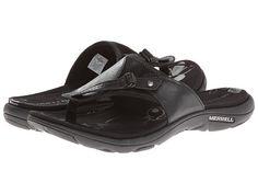 Merrell Grace Leather Flip Black - Zappos.com Free Shipping BOTH Ways