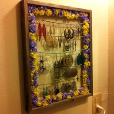 My new earring holder! Makes me happy