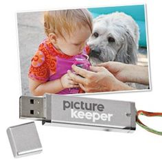 With Photo Keeper, a single click backs up your pictures. No software, set-up, passwords or fees.