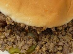 Maid Rites (loose meat sandwiches) in the Crock Pot Entree Recipes, Sandwich Recipes, Meat Recipes, Slow Cooker Recipes, Crockpot Recipes, Cooking Recipes, Hamburger Recipes, Recipies, Donuts