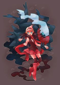 One of my favorite Pokemon and female protagonists !